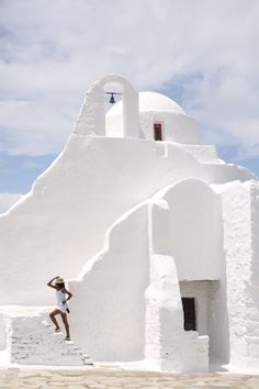 Mykonos, Greece | Stairway to perfection. Cruise with Royal Caribbean to Mykonos to enjoy Greece's unique, bright architectural style, inviting bays, gorgeous beaches, and Greek mythology.
