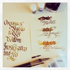Ochre/Amber ink comparison for @bakanekosan :) | Flickr - Photo Sharing!