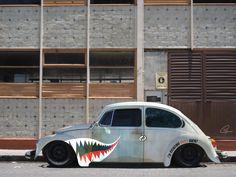 Slammed Ratty VW Beetle