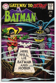 BATMAN 202!  Great 60s Irv Novick cover!