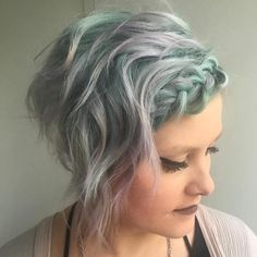 short messy braided hairstyle