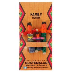 The Original Guatemalan Worry People Sorgenpuppe Red Company, Santa's Magic Key, Worry Dolls, Baby Hedgehog, Family Ornament, Sleeping Dogs, Mother And Baby, The Originals, No Worries