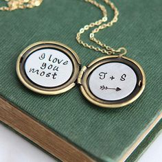 Personalized Locket Locket Necklace Initial Necklace