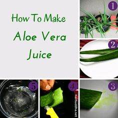 How To Make Aloe Vera Juice…#aloevera #aloeverajuice #health http://goo.gl/uMtNxO