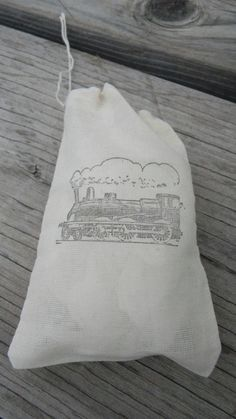 Set of 10 Train Kids Party Muslin Gift Party by CrimsonHollow, $12.00