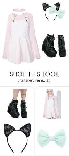 """""""Gothic DDLG"""" by that-weird-kid-jade ❤ liked on Polyvore featuring Demonia, Macaron Hombeth, Maison Close, Forever 21 and Humble Chic"""