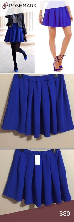 Fab Blue Skirt! Love this Skirt! Great for all seasons! Gorgeous Royal Blue Color! Sugar Lips Skirts Circle & Skater