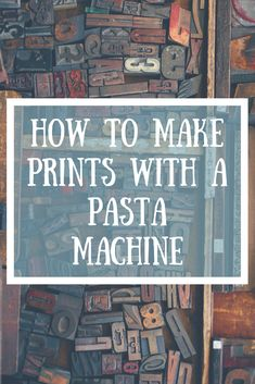 Learn how to make prints with a pasta machine!   Bears Get Crafty