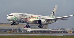 """Inaugura de la Madrid vuelo de Aeroméxico a Londres con el Boeing 787-9 """"Quetzalcóatl"""""""
