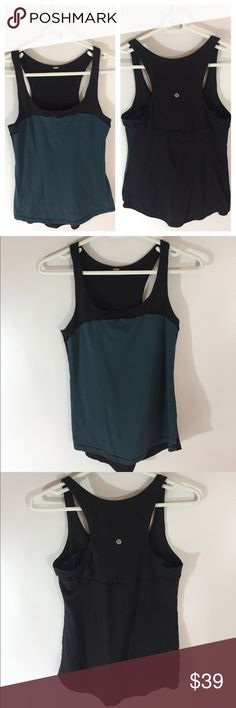 Lululemon Racerback Tank Top So cute! Very Good pre worn condition. Label removed. Size 6 lululemon athletica Tops Tank Tops