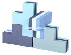 bObles byggeblokke, 4 pak, multi blå