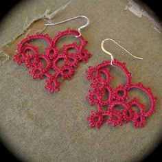 Tatted Lace Earrings - With All My Heart