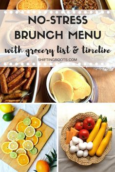 This easy brunch menu will soon become your go-to for entertaining guests. Includes shopping list and timeline for getting all your shopping, cleaning, and cooking done. Quick quiches and casseroles mean that you can spend more time with your guests and l Easy Brunch Menu, Brunch Party, Brunch Recipes, Breakfast Recipes, Brunch Ideas, Garden Vegetable Recipes, Quick Quiche, Gourmet Breakfast, Cooking For A Crowd