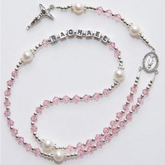 This is so pretty! I was gonna make a rosary for my friend but didn't know how it would look putting her name in there because it is spelled with an odd number of letters, but this is beautiful!!