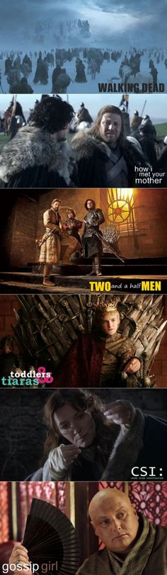 The Many Faces of Game of Thrones - Found on cdn.webfail.com via Tumblr