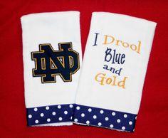 Notre Dame Burp Cloth Set by BebesStitches on Etsy, $15.00