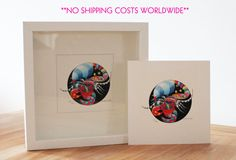 Scorpio zodiac silk print - limited edition - FREE SHIPPING - incl. frame - decoration,birth gift or birthday present - 10 inch x 10 inch #handmade #etsyretwt