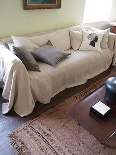 Sofa Sleeper Simple fix for Gabe us old couch Dropcloth Slipcovers