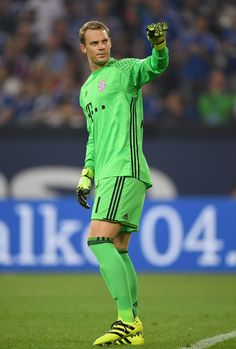 Manuel Neuer of Bayern Muenchen reacts during the Bundesliga match between FC…