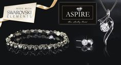 Shimmer and shine on your next evening out with a sparkling white gold-plated jewellery set made with Swarovski Elements crystals. Save an astounding 79% on a beautiful necklace, earrings and pendant