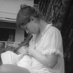 Elaine and David (1 week old), 1970