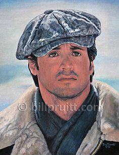 Sylvester Stallone Rocky Balboa Rocky 4 art print by billpruittart #Rocky4 #SylvesterStallone