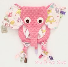 Elephant Baby Blanket Tag Toy Pacifier Clip Animal Lovey by SewDPopShop on Etsy https://www.etsy.com/listing/269037224/elephant-baby-blanket-tag-toy-pacifier