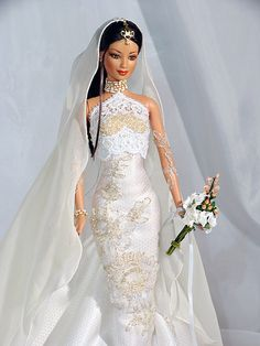 Induja - this is absolutely stunning Barbie Bridal, Barbie Wedding Dress, Wedding Doll, Barbie Dress, Barbie Clothes, Wedding Dresses, Barbie Life, Barbie World, Chic Chic