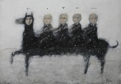"Alexey Terenin, ""**** Riders"", 70x100, oil on canvas."