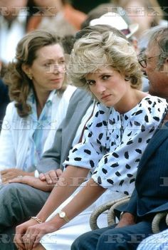 July 21, 1985: Princess Diana at a polo match at Cowdray Park in Sussex.