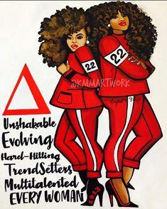Delta Sigma Theta Apparel, Delta Sorority, Sigma Gamma Rho, Sorority And Fraternity, What Is A Delta, Sisterhood Quotes, Delta Art, Divine Nine, Omega Psi Phi