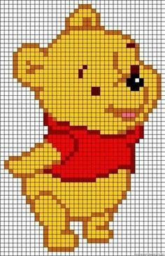 Baby Knitting Patterns Winnie Pooh - Template for # Iron Beads . Baby Knitting Patterns Winnie Pooh – template for # Bügelperlen… Baby Knitting Patterns, Rug Hooking Patterns, Knitting Charts, Crochet Patterns, Loom Knitting, Perler Patterns, Loom Patterns, Beading Patterns, Embroidery Patterns