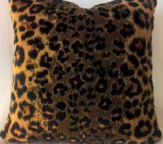 """Kravet Couture 'Exotica Weave' Belgian Leopard Velvet custom Pillow 16""""x16""""!! by yorkshiredesigns on Etsy"""