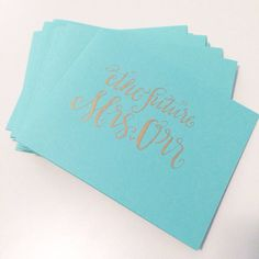 Future Mrs. Custom Calligraphy Note Cards