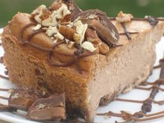 Low-Carb Caramel Turtle Cheesecake is easy to make. Just freeze what you want to save for later and enjoy the rest this holiday season.