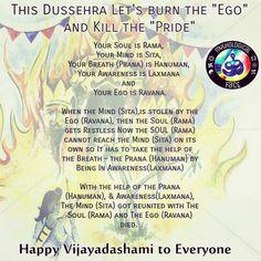 "Wishing everyone a happy Vijayadashmi. This Dussehra Let's burn the ""Ego"" and Kill the ""Pride"" . . . . . Dussehra is a Hindu festival that celebrates the victory of good over evil. The day culminates a nine-day fasting period of Navratri. Dussehra also coincides with immersion of the idol of Goddess Durga. The day is celebrated to celebrate the killing of Ravana by Lord Rama. . . . . . #rama #sita #Ramayana #laxman #ravana #hanuman #Symbolism #symbolic #ad #sponsored #follow #lanka #ayodhya… Happy Vijayadashmi, Rama Sita, Hindu Festivals, Durga Goddess, Hanuman, Hinduism, Ganesha, Mythology, Burns"