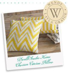 Layla Grace Staff Favorite | DwellStudio Citrine Pillows!  Summer lovin'!