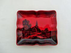 Royal Doulton Flambe Pin Tray Trinket Dish by LeftLaneVintage