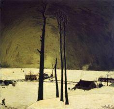 Winter Landscape by Constant Permeke,1912