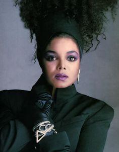 Janet Jackson (still love this 80's shot for her Control Album ~Dahni)