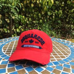 Dsquared2   dsquared   DSQ2   Red   cap for sale   one size fits   fd9390809bac