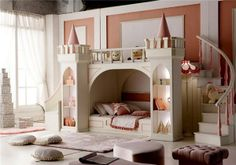 """New arrived~~~Princess Wooden Castle bed children bunk bed with stairs and slippery slide multifunction locker trundle children bed furniture $5,688.00 5% off in May!! limit quantity sale ~~~all girls lover~~~ Beautiful and amazing! when my girl see it she said """"mom,i'm a princess!!!!!!!!!!!!"""""""