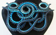 Handmade Octopus Tentacle Jewelry by Kaity O'Shea http://io9.com