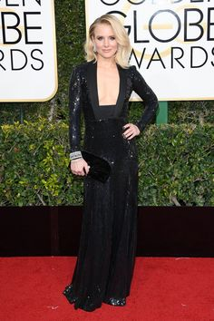 See All the Looks From the Golden Globes 2017 Red Carpet: Kristen Bell