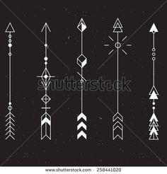 Set of vector minimalism/geometry/hipster arrows/design elements