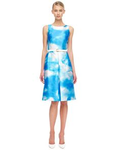 Falling in love with... Michael Kors Cloud-Print Dress $2195 - would love but way out of the price range!