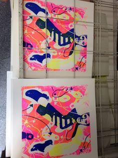 Blue suede shoes print