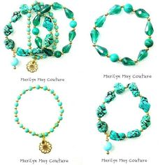 stacking bracelets in turquoise and teal