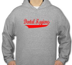 Dental Tease, Inc - The #1 Dental Tee Shirt and Clothing Website Online! : Dental Hygiene Baseball - Red Hooded Sweatshirt - $19.98