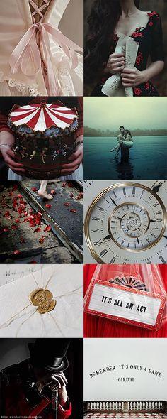 """Remember, it's only a game..."" Caraval, Stephanie Garber. I loved this book! #libri #recensioni #bookblogger #review #legend #scarlett #caraval aesthetic #circus #nightcircus #julian #tella #roses #letters #bookstagram #booklover #dress #clock #roses #flowers #quote #citazioni #libridaleggere #amoleggere #italia #fantasy #magic"
